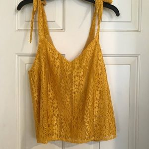 Lace overlay tank top sz M